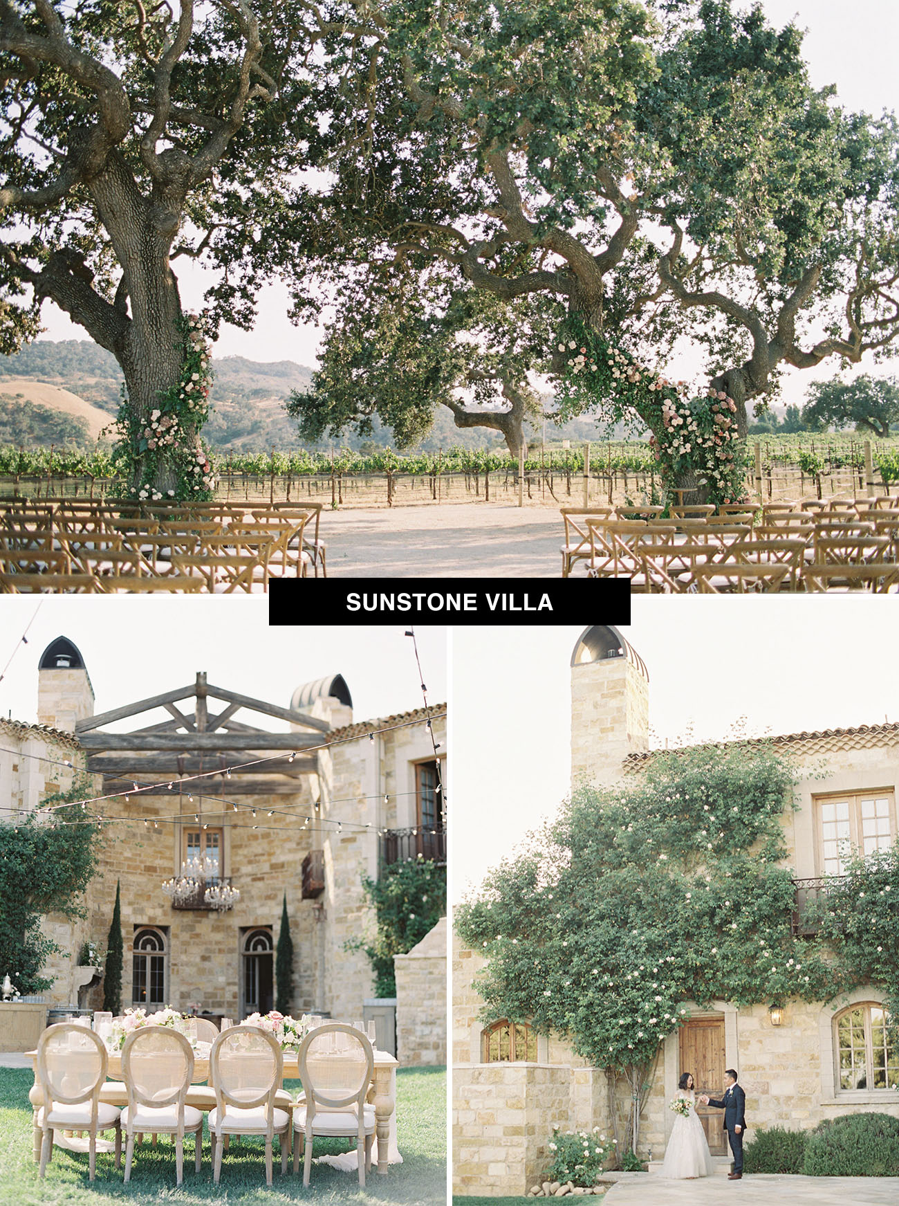 Sunstone Villa wedding venue in California a place to get married in the US with the feel of Italy