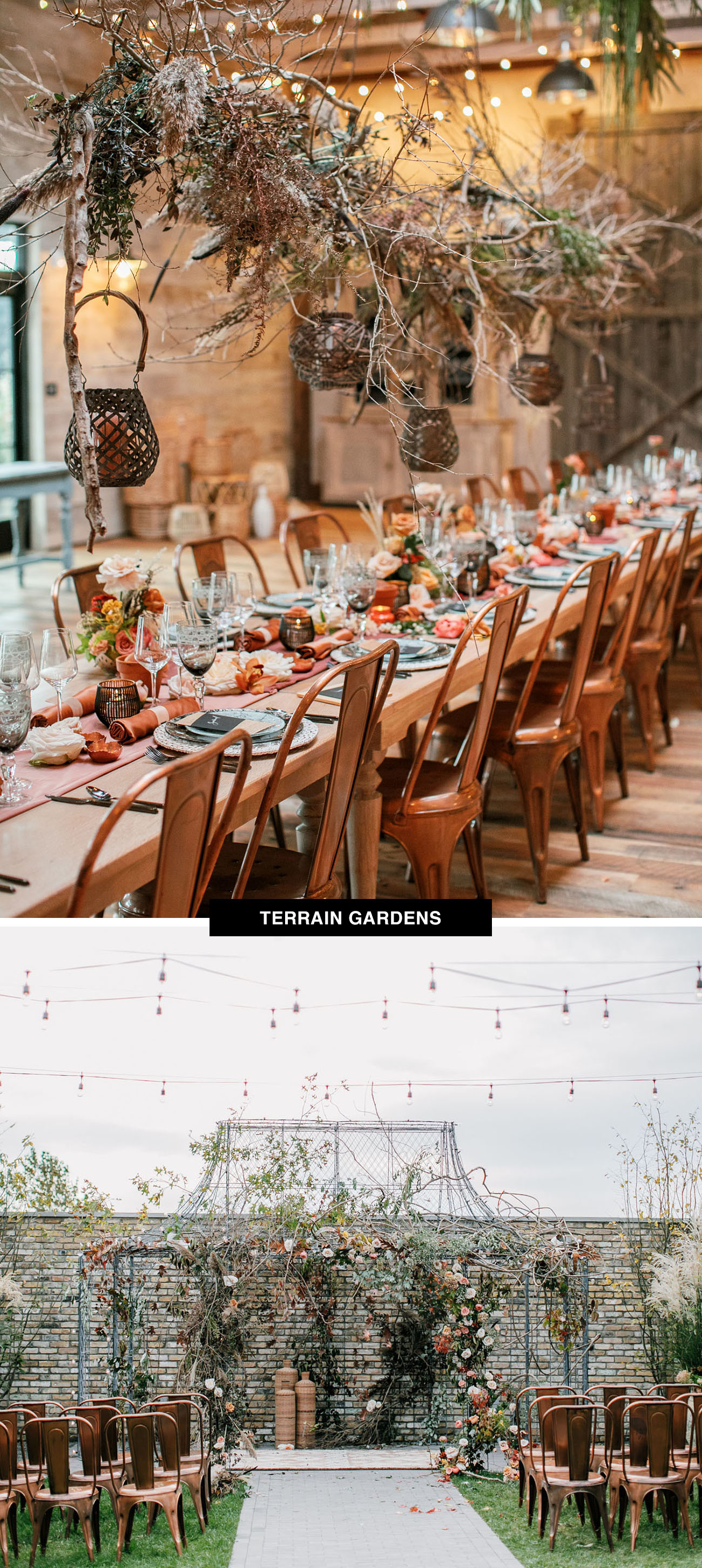 Terrain Gardens wedding venue in Pennsylvania is the place to get married for Anthropologie lovers