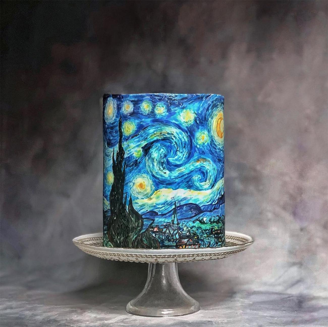 Van Gogh Impressionist Cake