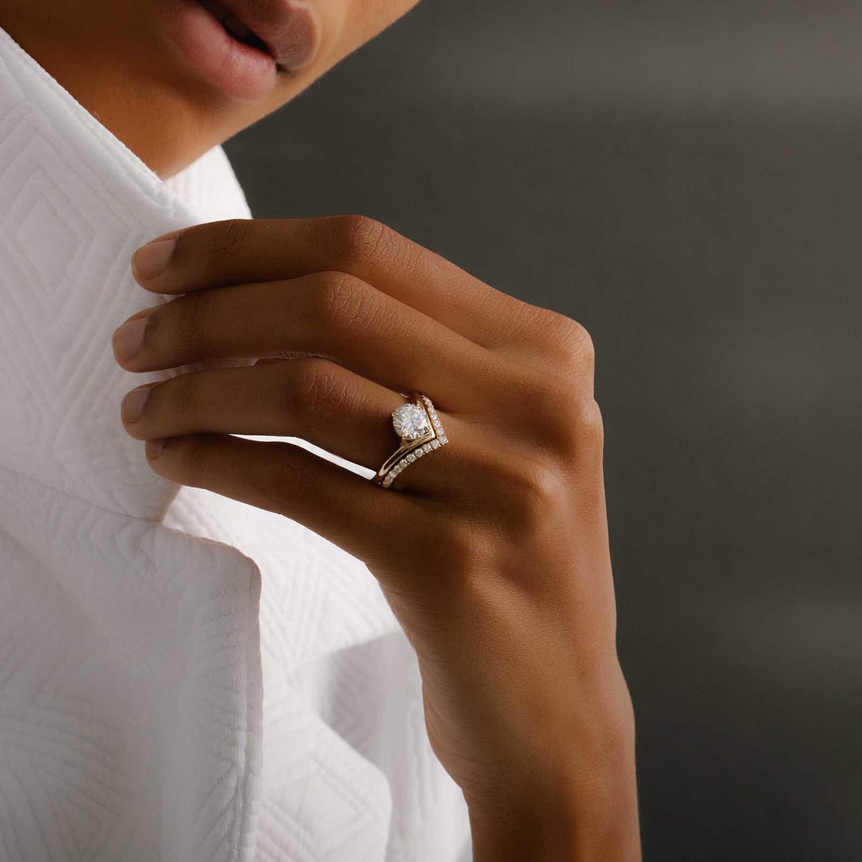 vrai signature v ring lab grown diamond