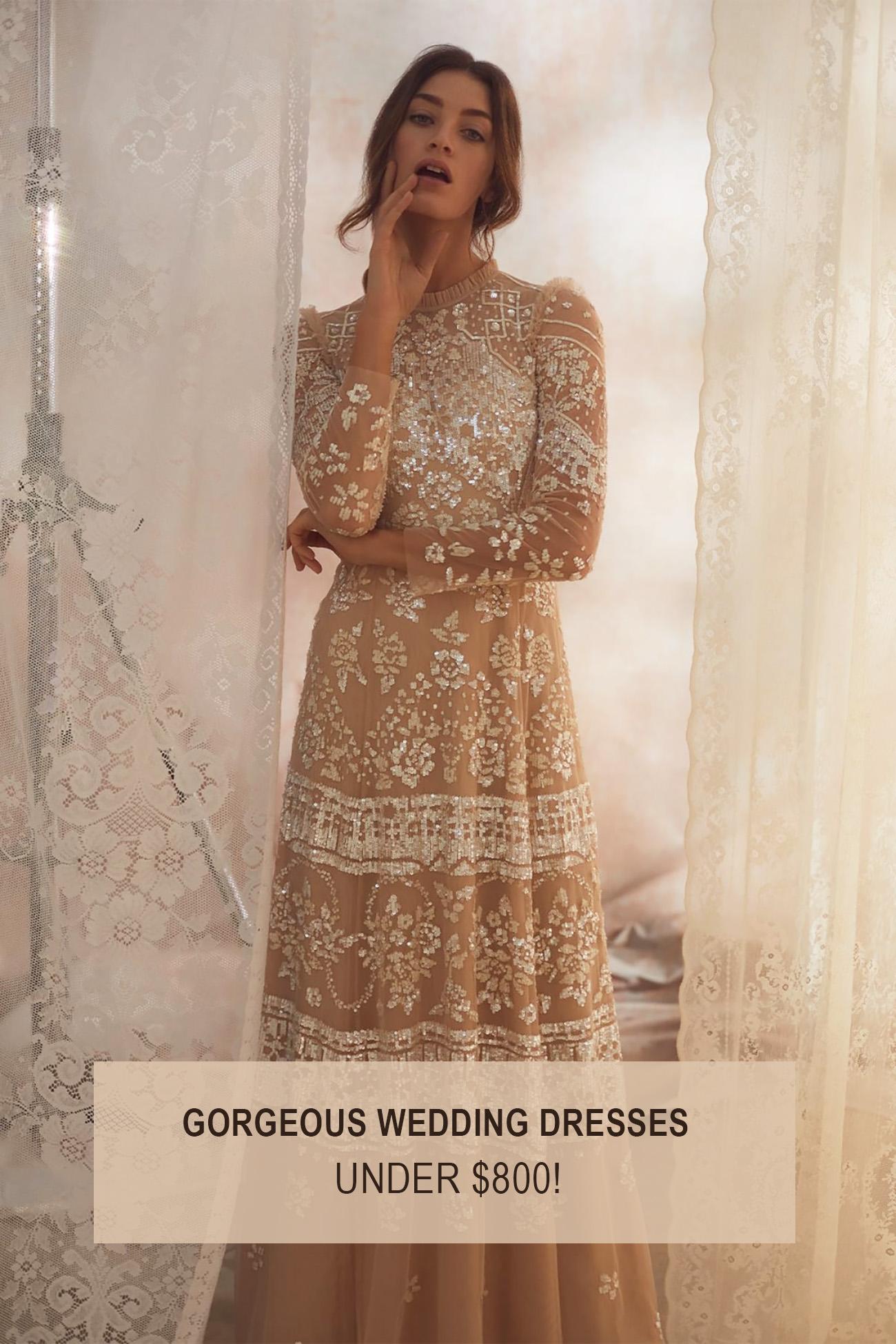 gorgeous wedding dresses under $800