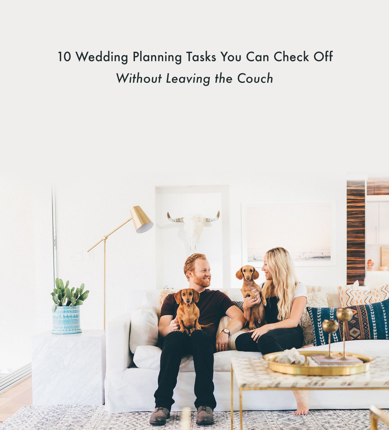 10 Wedding Planning Tasks You Can Check Off Without Leaving the Couch