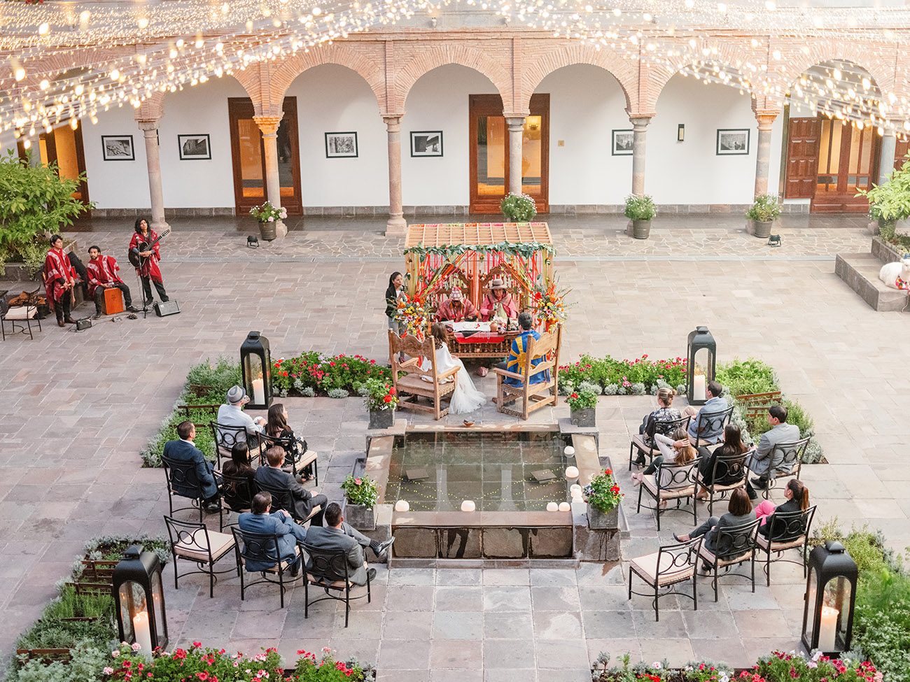 Cusco Wedding at JW Marriott El Convento in the Courtyard