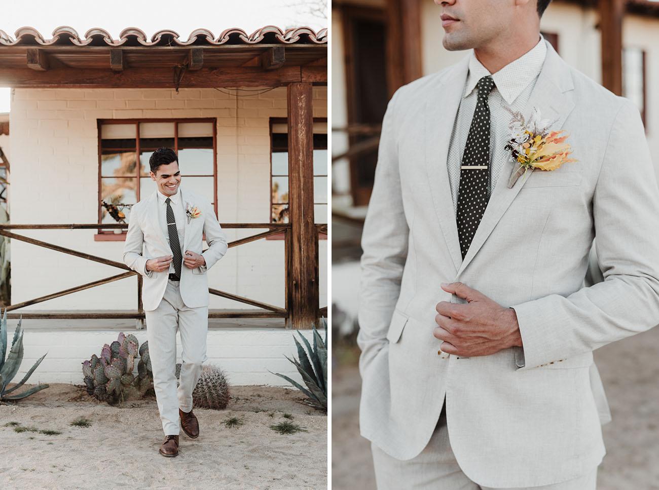 light colored groom suit