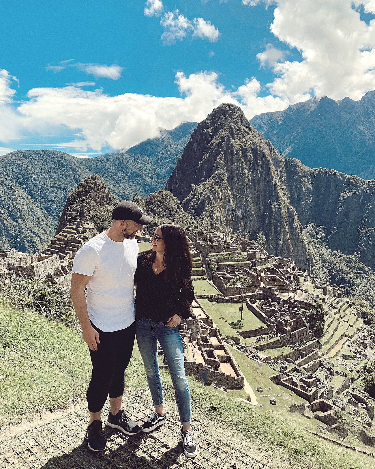 Couple in front of Machu Picchu