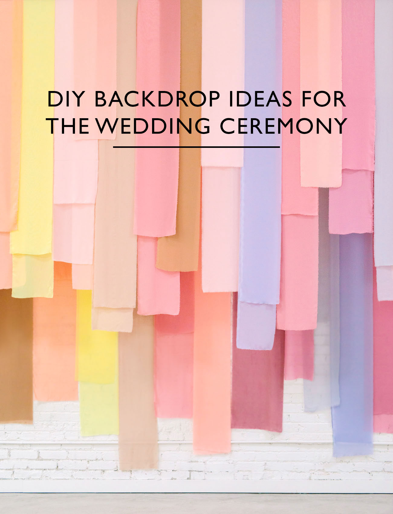 DIY wedding backdrop ideas