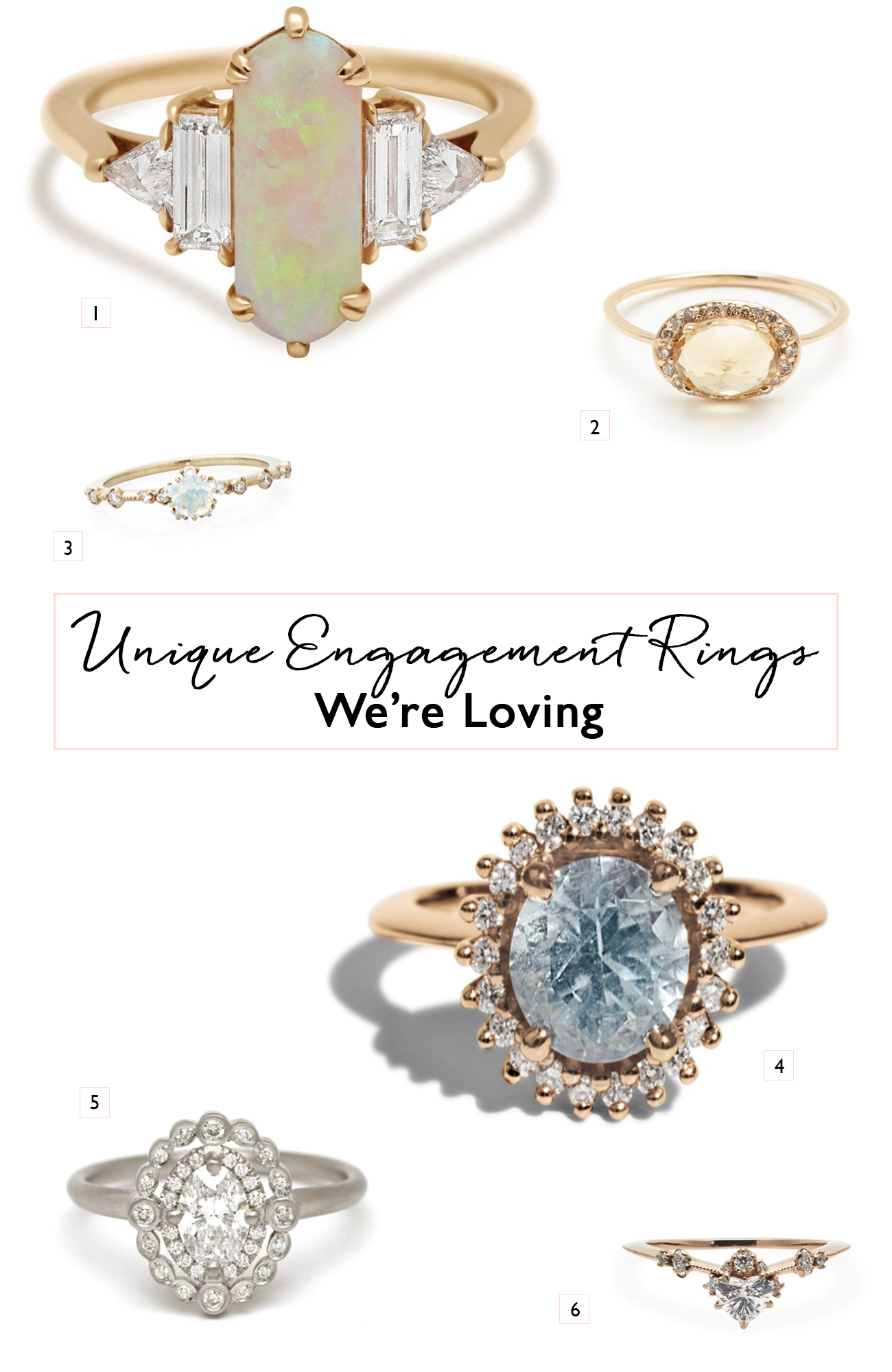 Unique Engagement Ring Collage