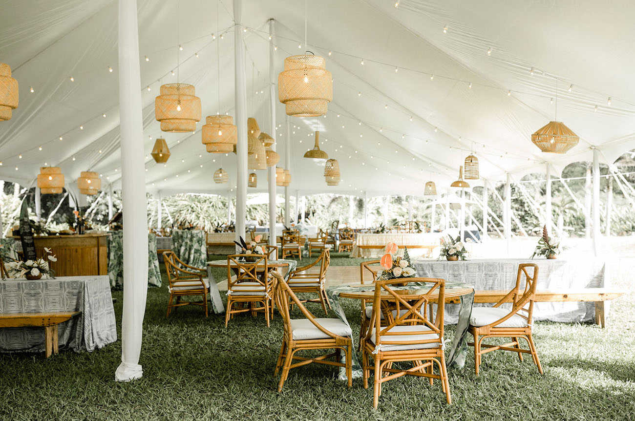 earthy boho wedding tent