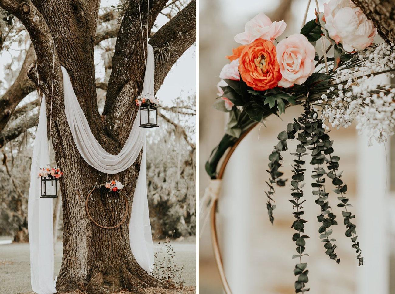 tree drapery DIY wedding backdrops