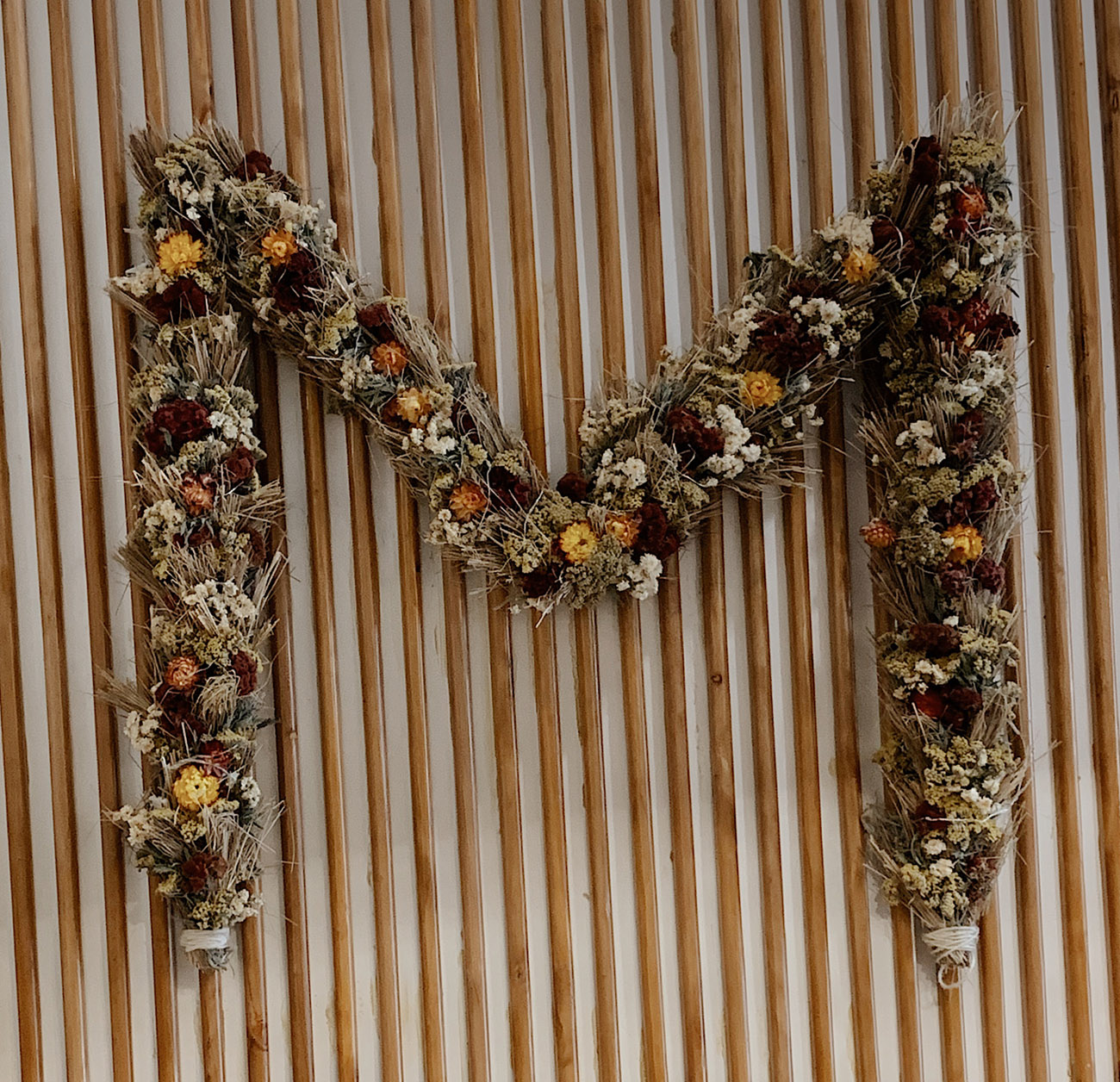 Dried Flowers on the Wall