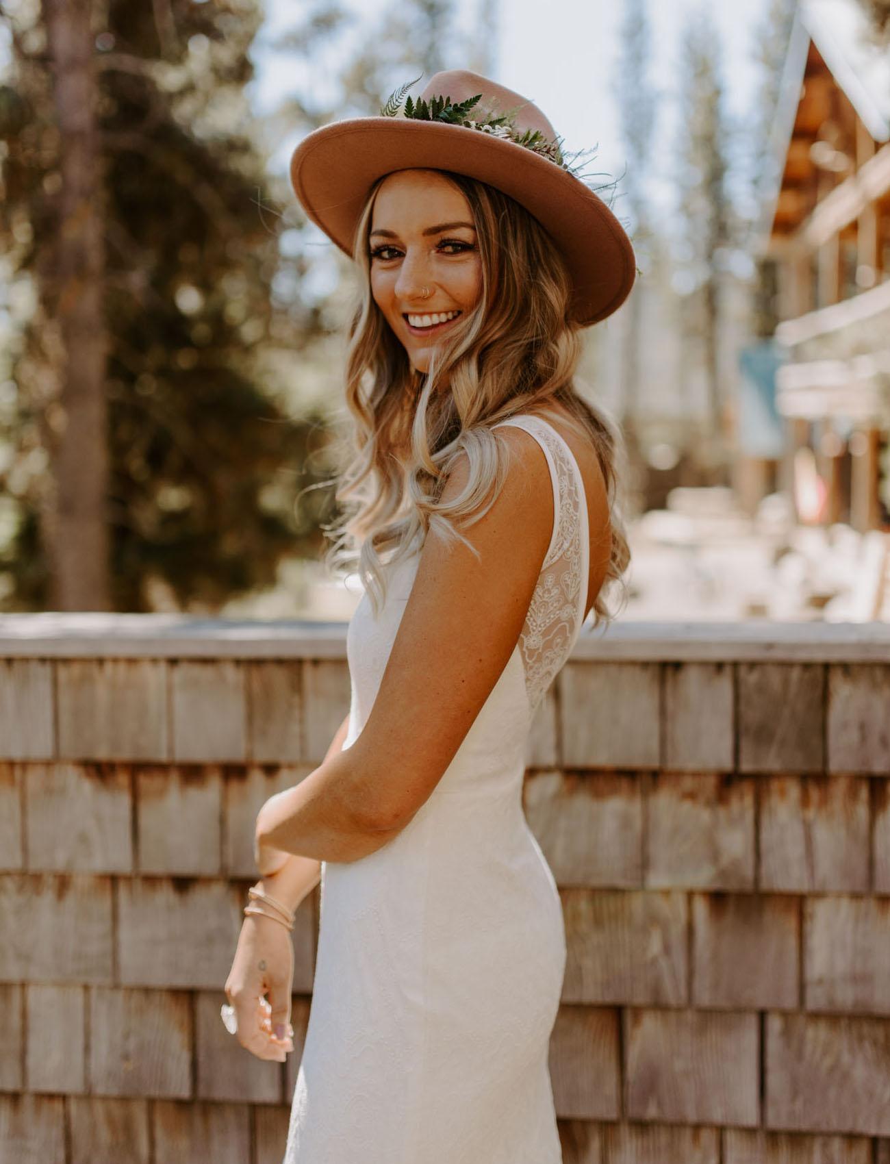 real bride flower hat