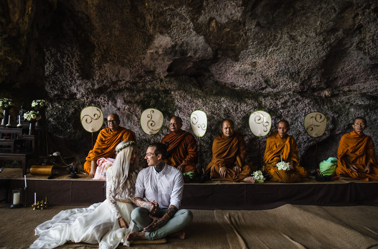 Thailand Wedding in a Cave