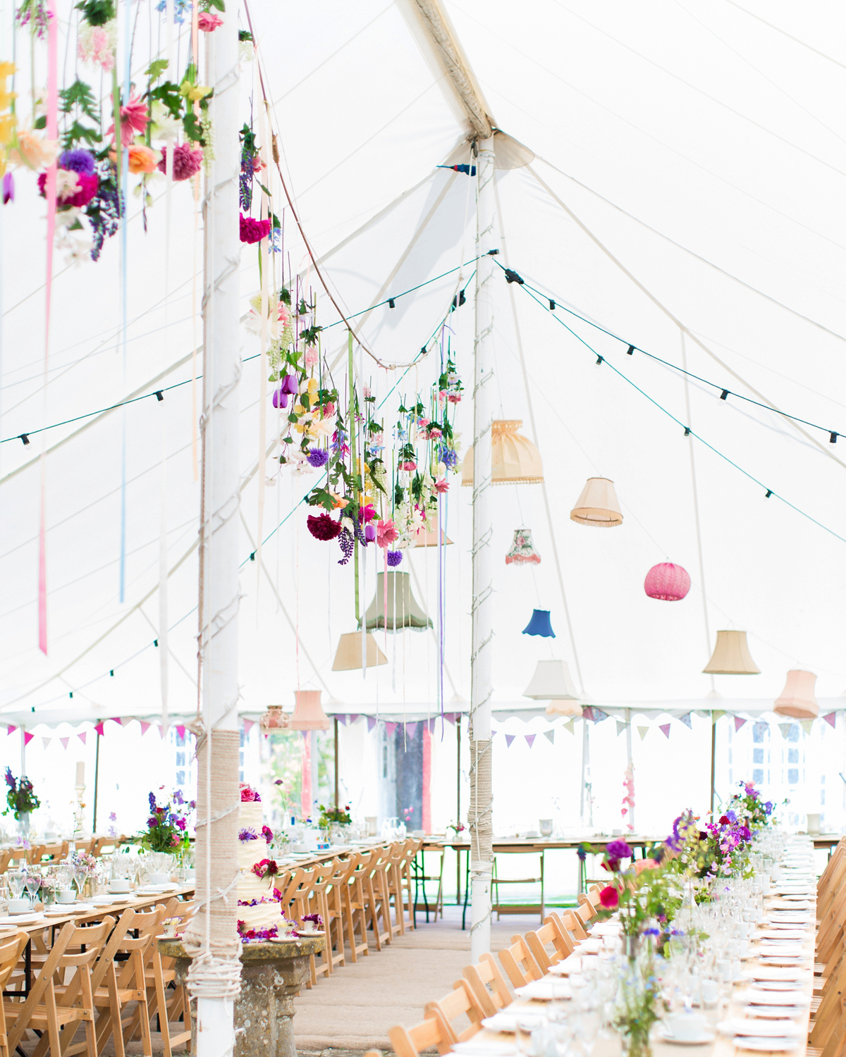 whimsical wedding tent decor