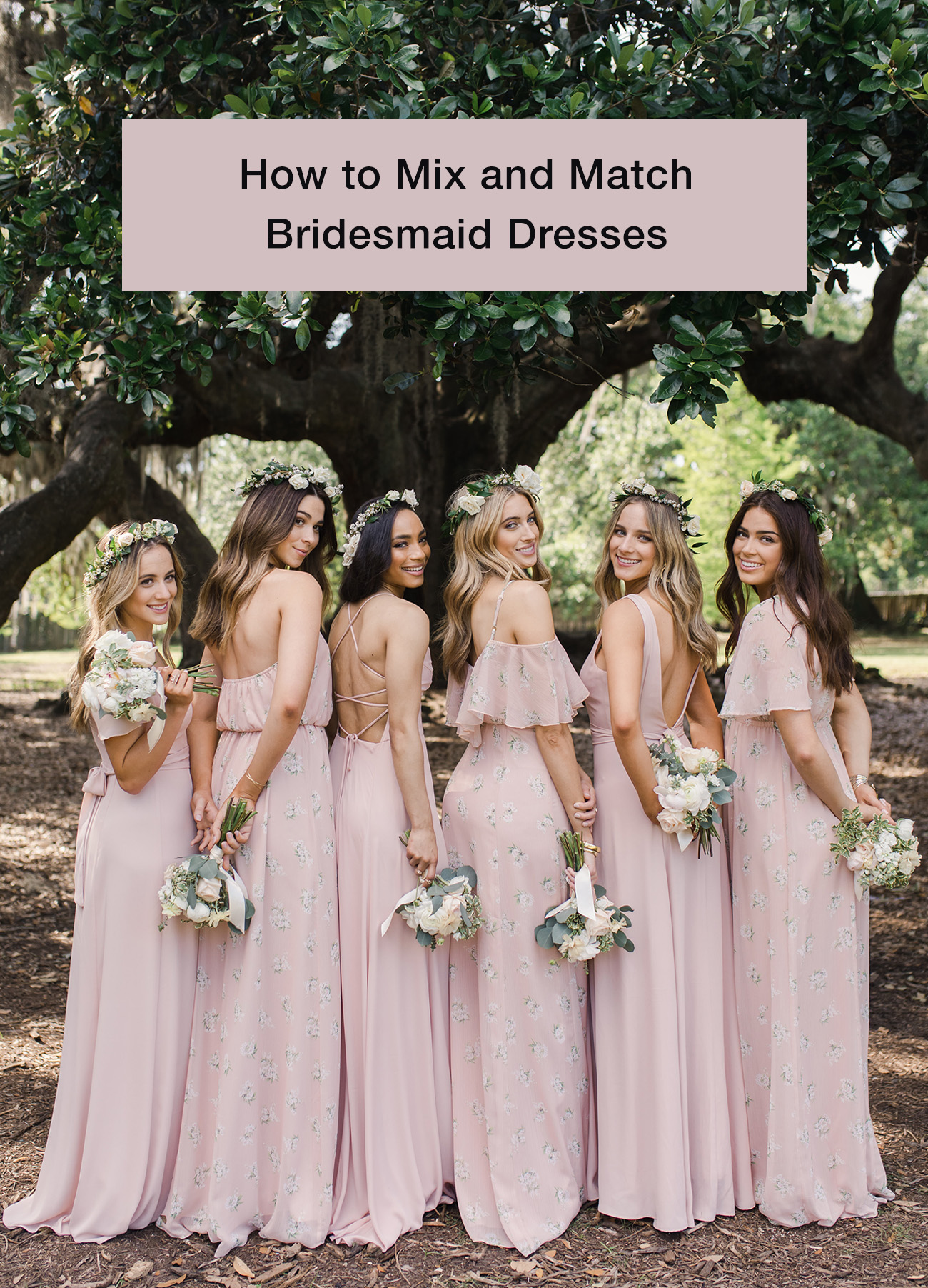 cd09201ad13 How to Mix and Match Bridesmaid Dresses - Green Wedding Shoes