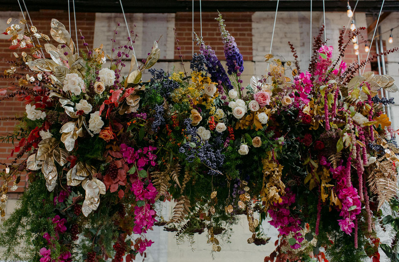 hanging flower arch