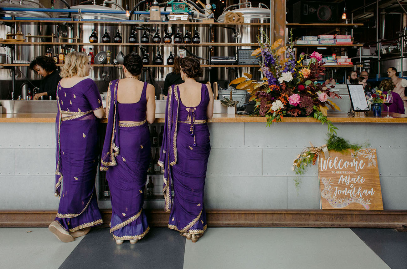 Colorful Indian Brewery Wedding