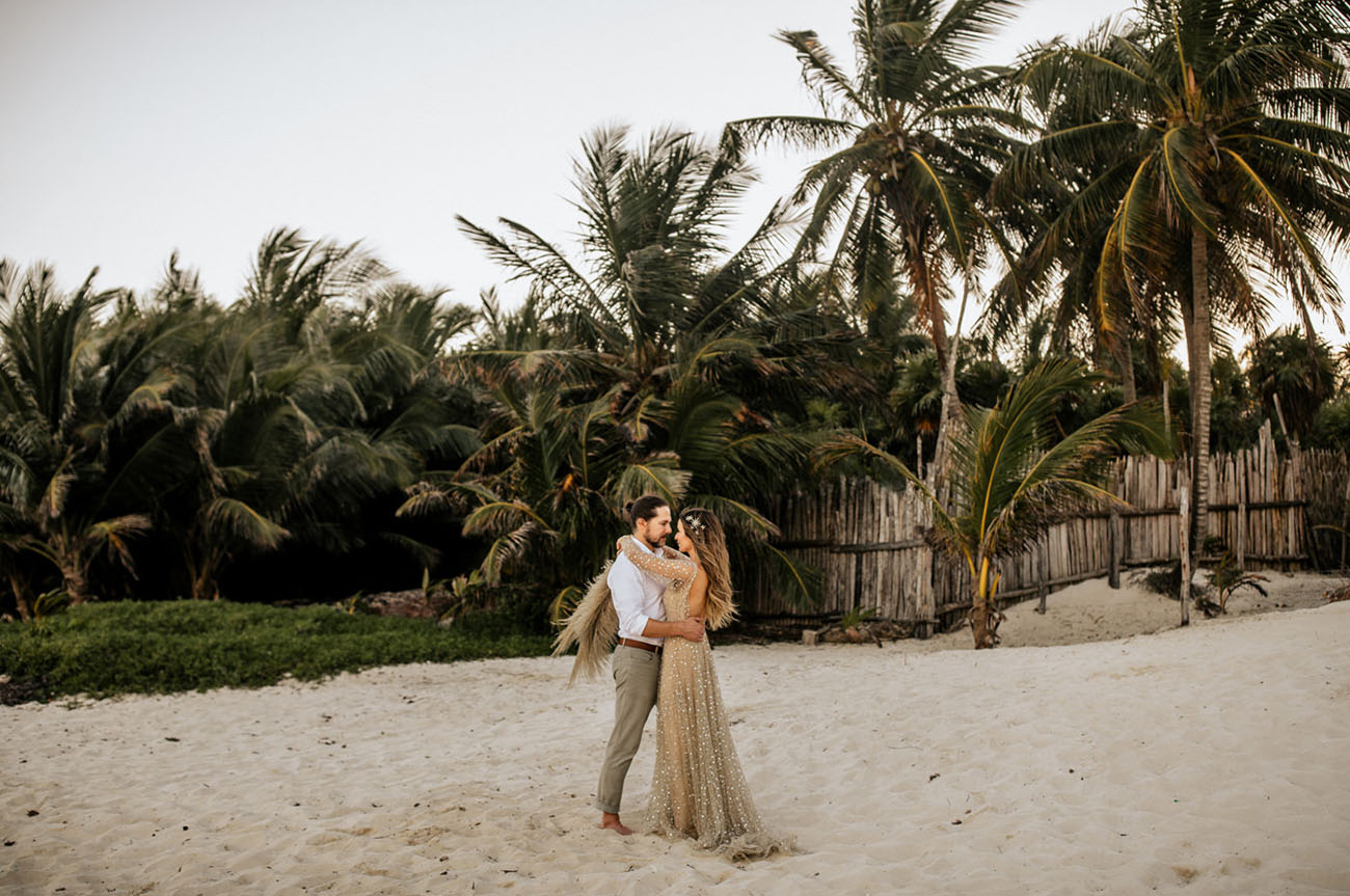 Beach Wedding in Tulum