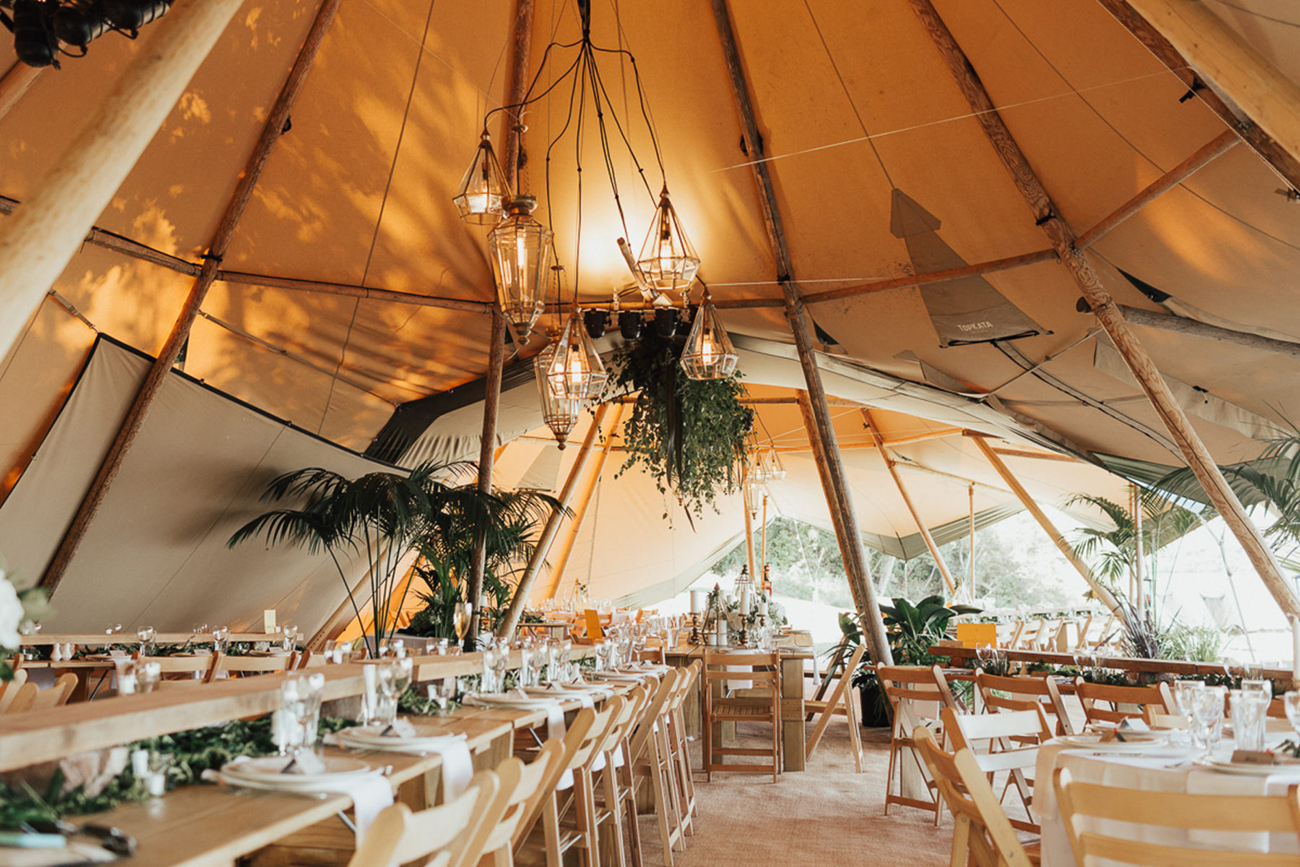 teepee tent wedding reception