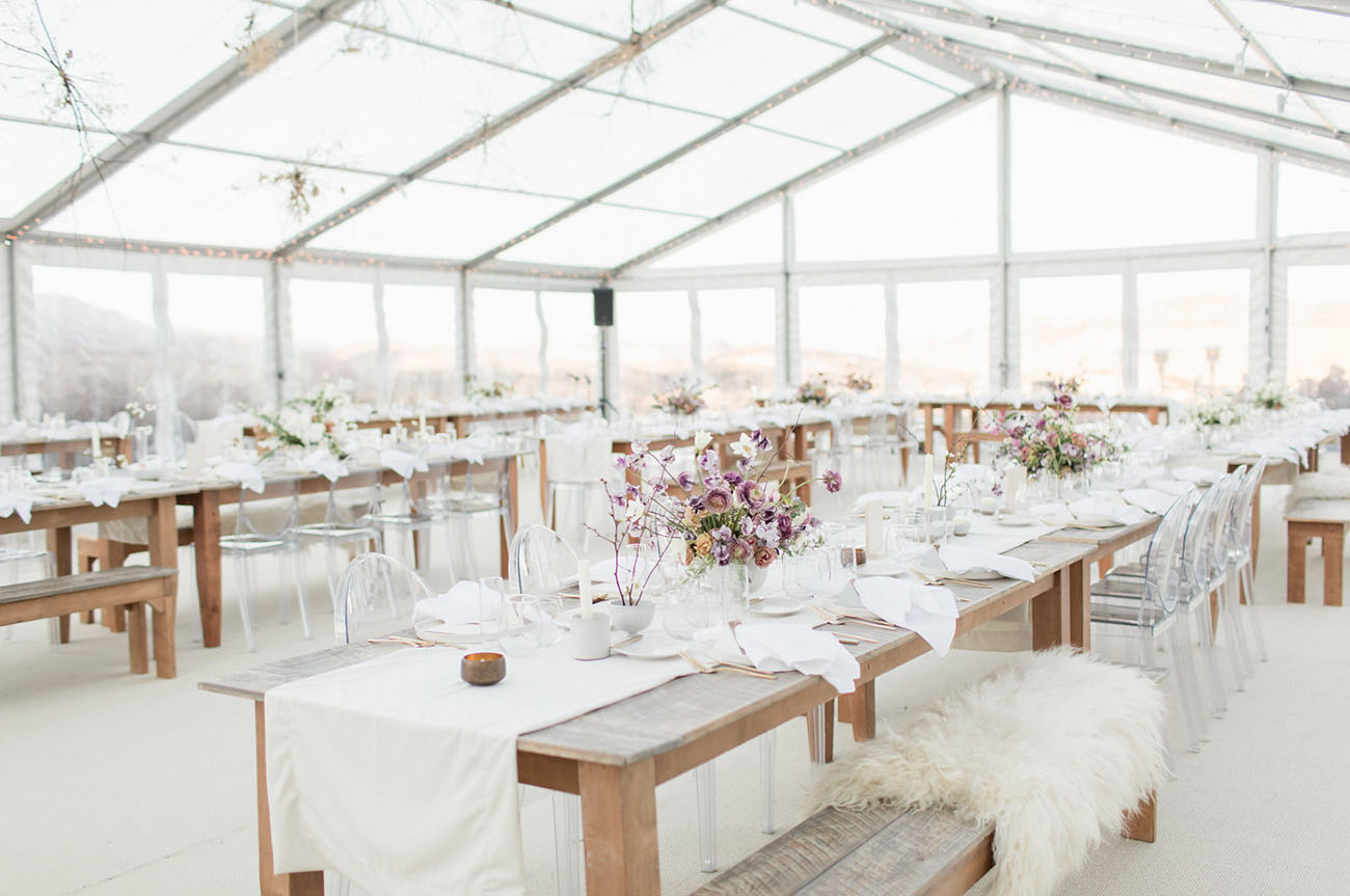 clear top wedding tent reception