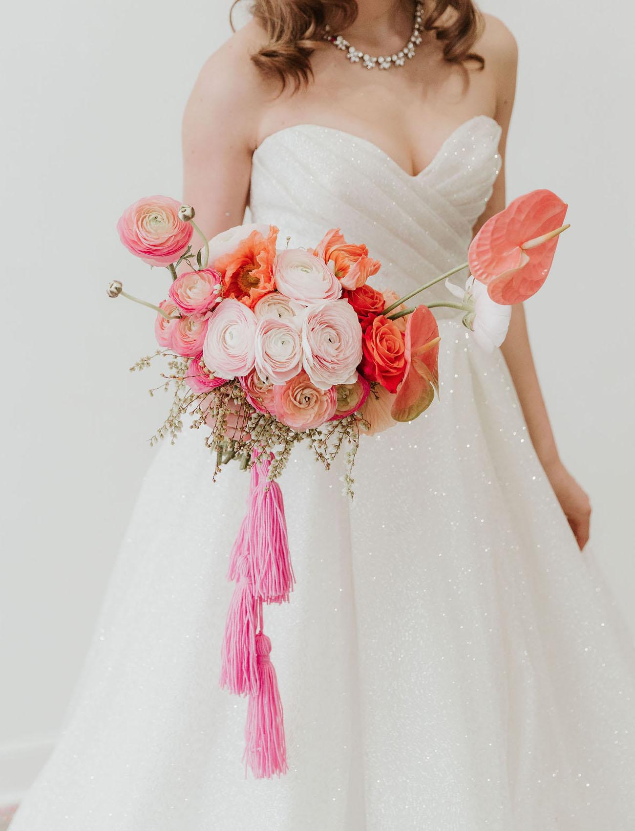 pink ranunculus bouquet