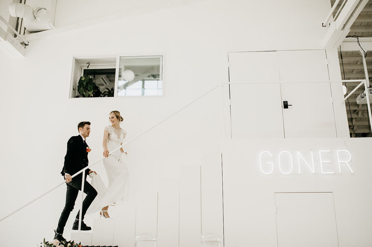 Modern Photo Studio Wedding