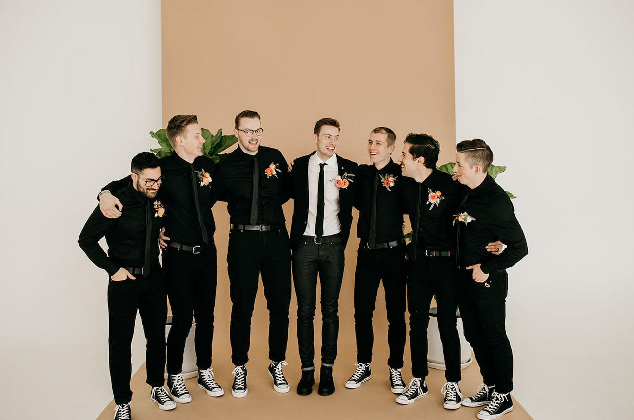 all black groomsmen