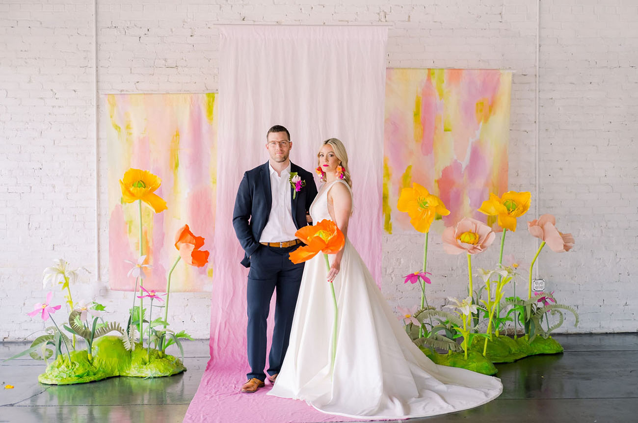 Giant Paper Flower Wedding Inspiration