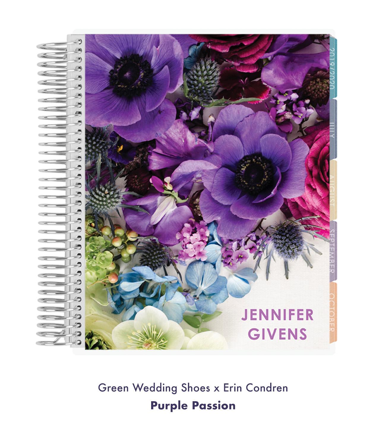 Green Wedding Shoes x Erin Condren Purple Passion Design