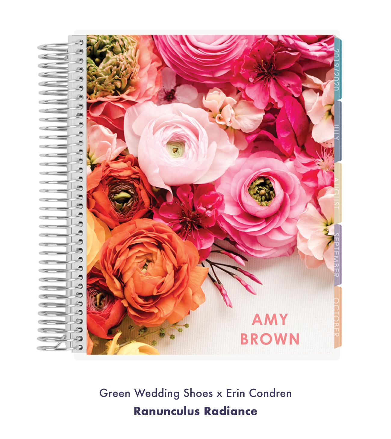 Green Wedding Shoes x Erin Condren Ranunculus Radiance Cover