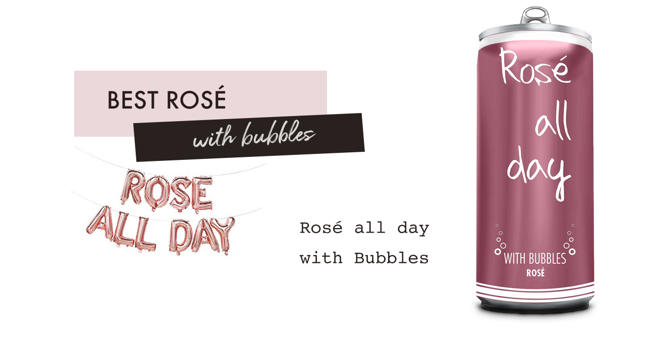 rose all day with bubbles