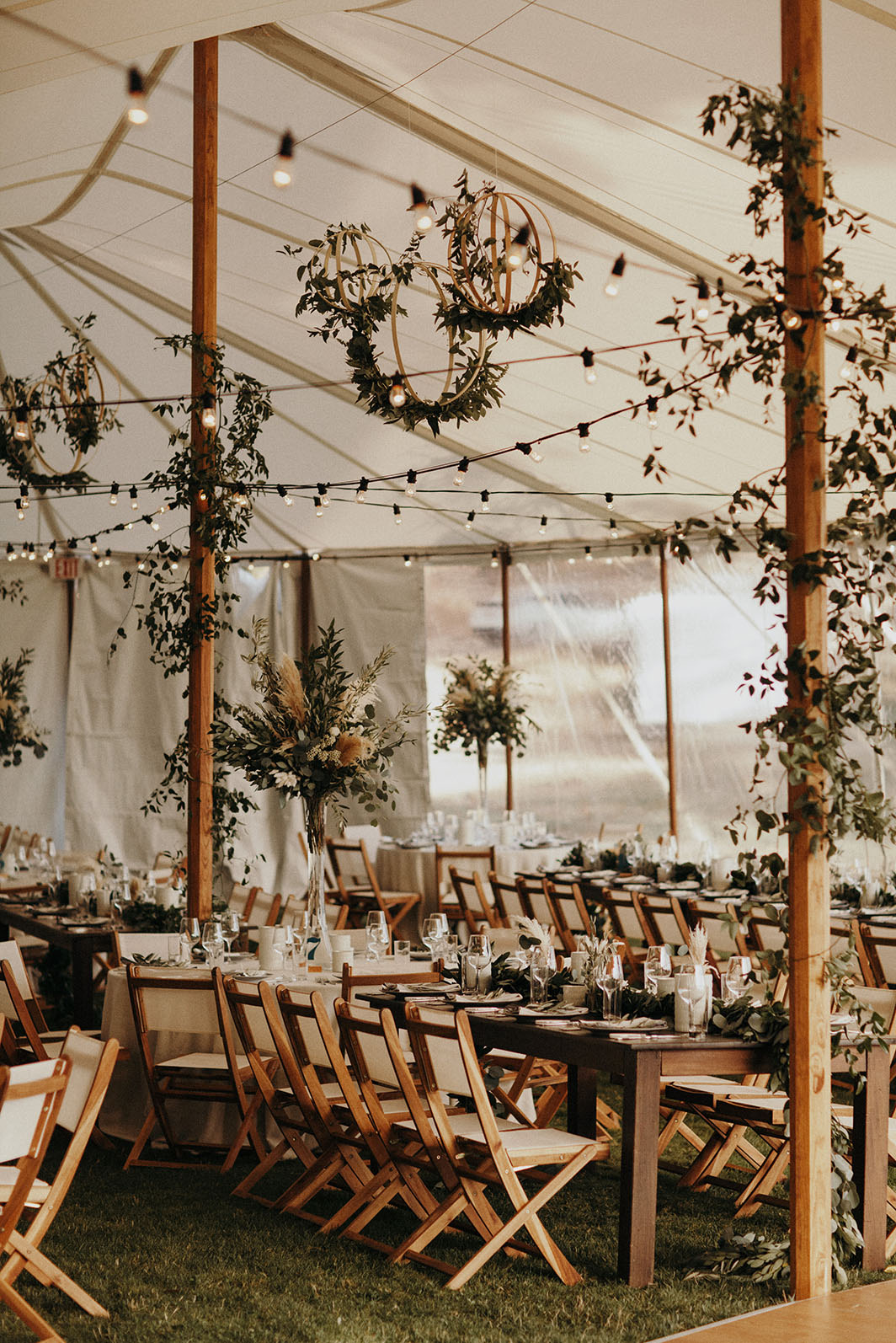 wedding tent reception ideas