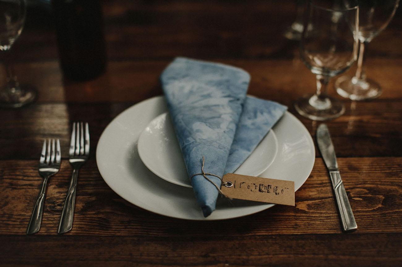 indigo napkin