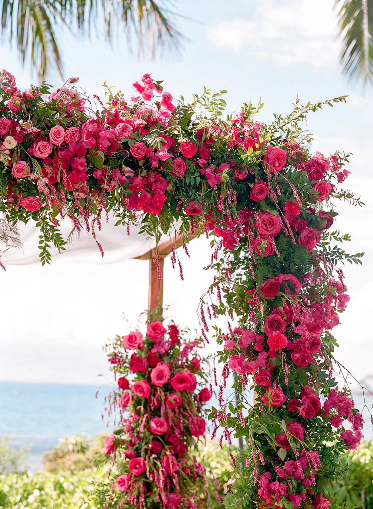 Bougainvillea Floral Wedding Arch