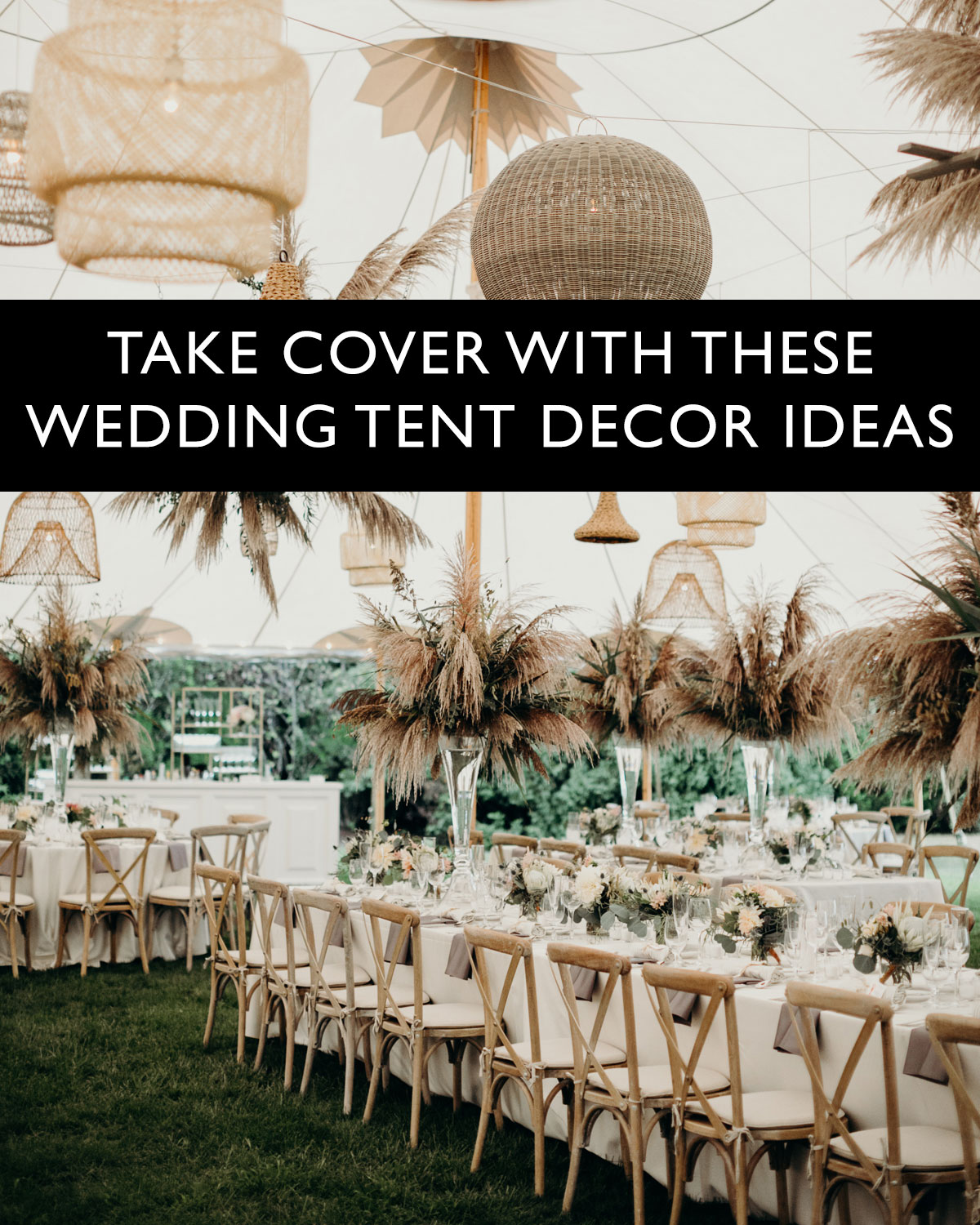 wedding tent decor ideas