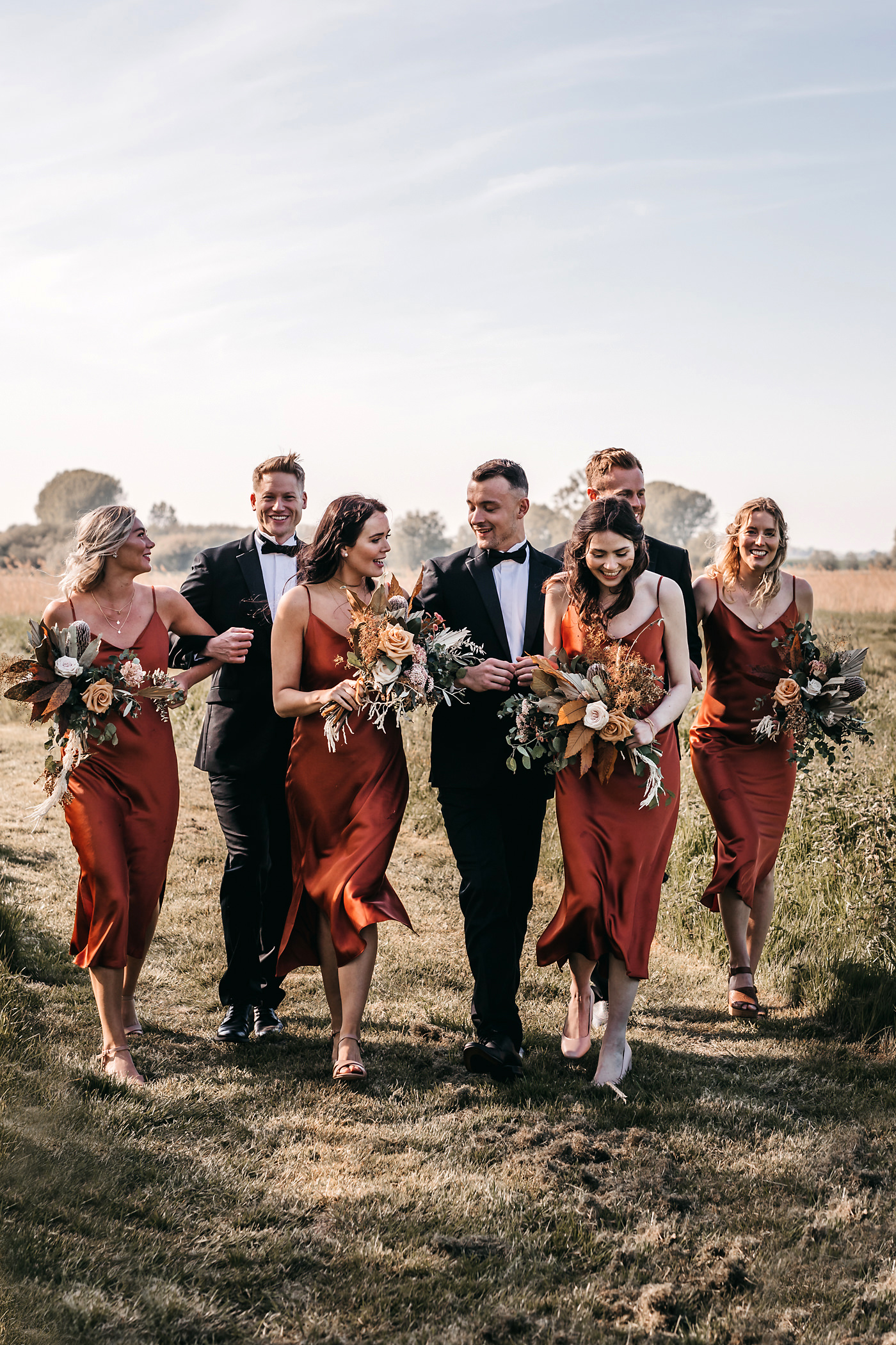 rust wedding party