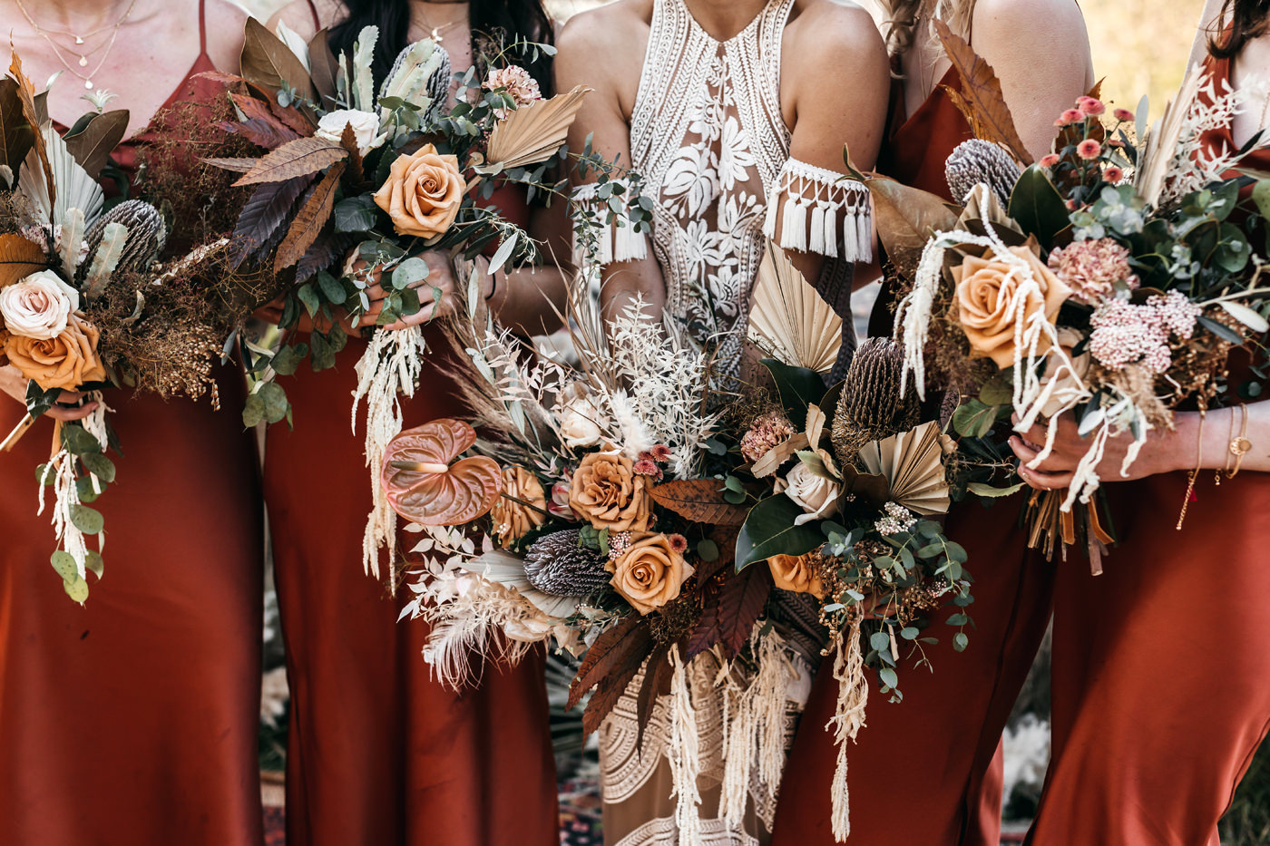 bouquet with dried flowers