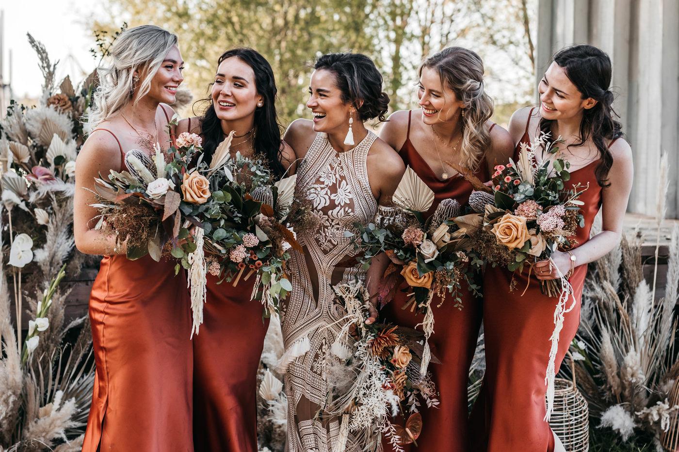 rust bridesmaids