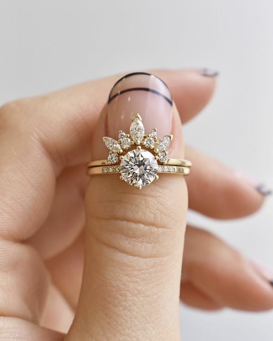 Anna Sheffield Ring with Minimalist Nails