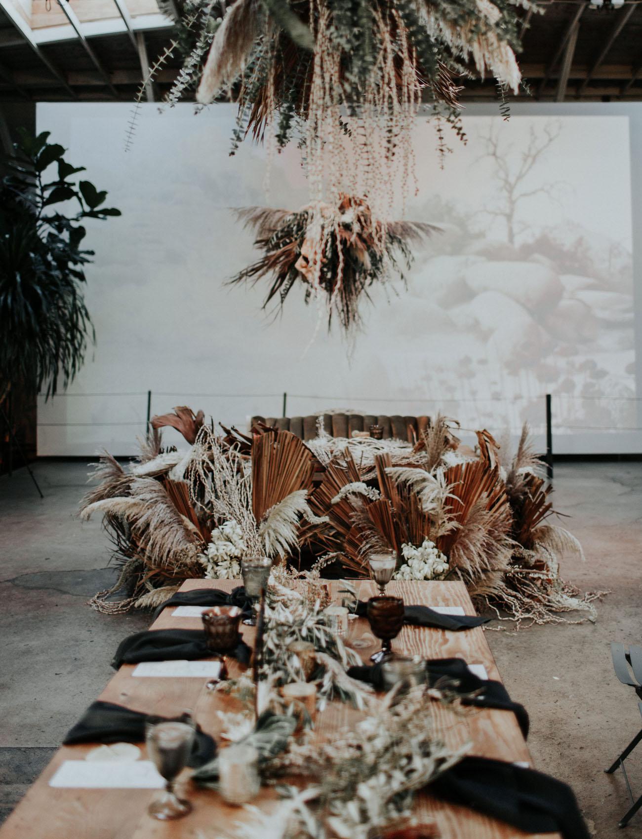 Modern Boho Chic LA Wedding
