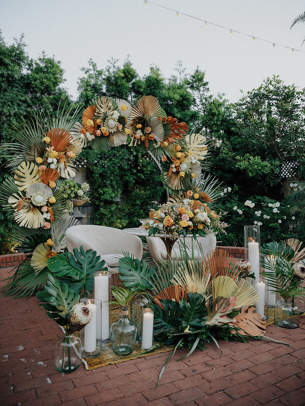 tropical floral reception