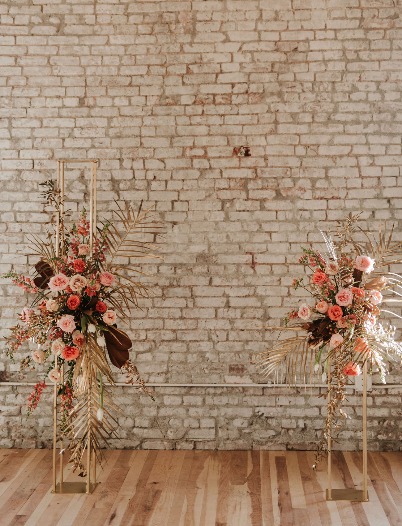 indoor floral ceremony install