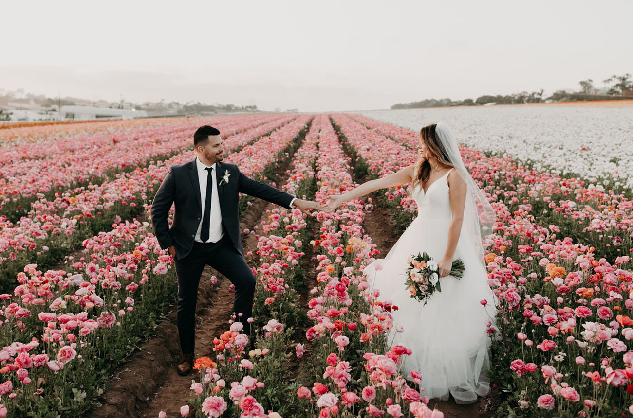 Flower Fields Wedding Inspiration