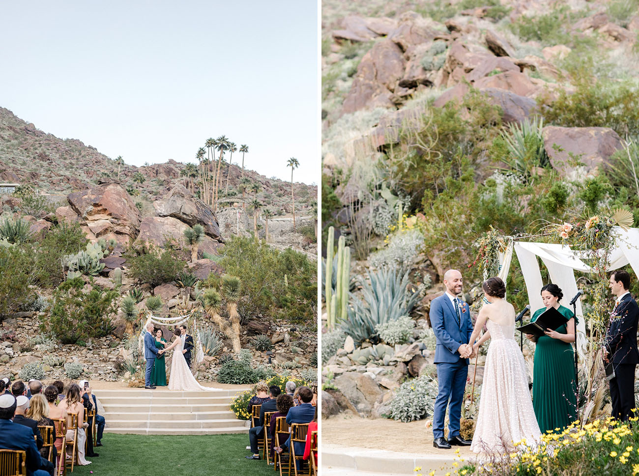 Modern Boho Palm Springs Wedding
