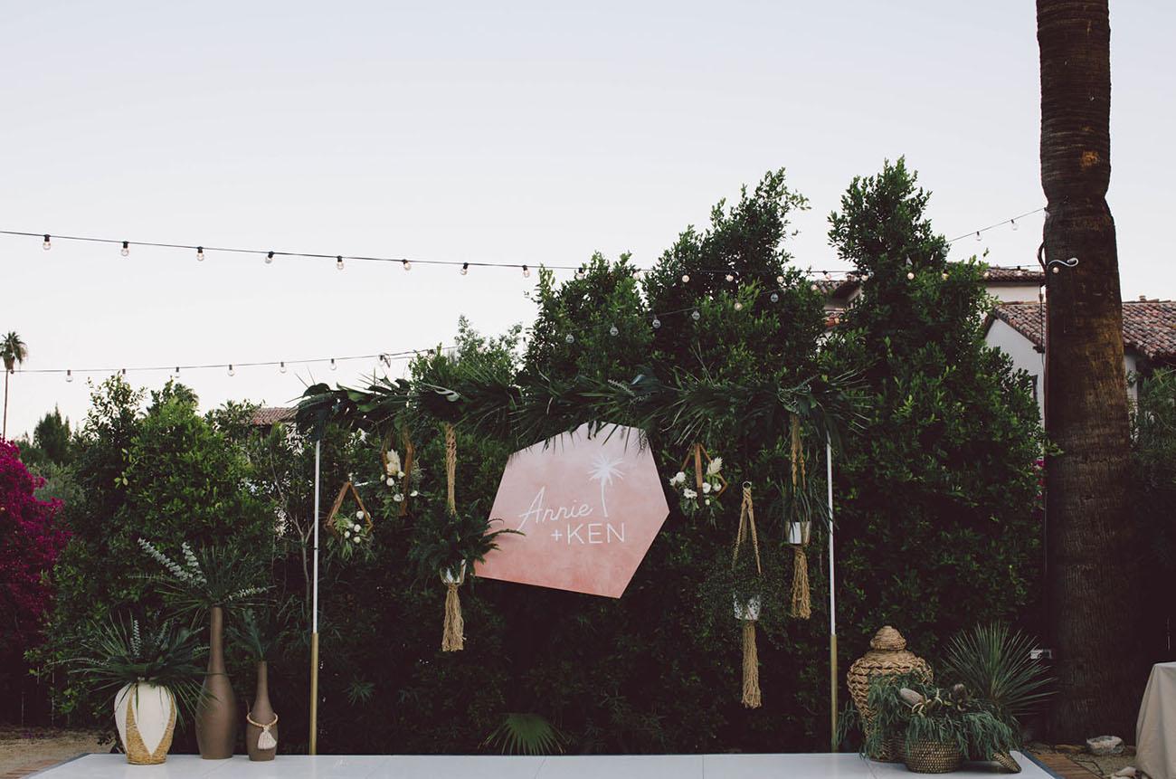 hanging plants reception