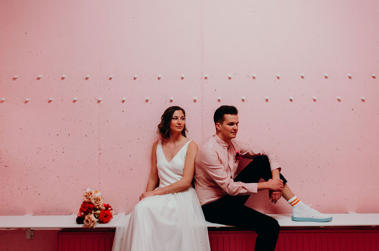 Game On: Colorful + Modern Sports-Themed Wedding Inspiration