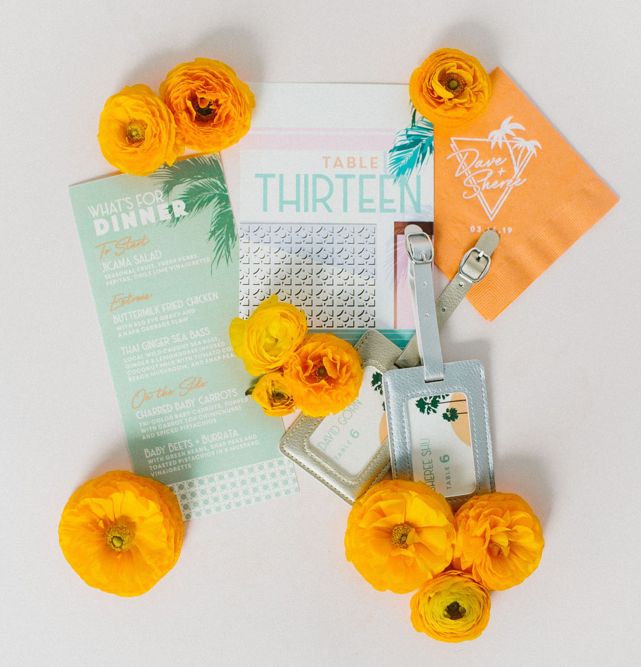 palm springs wedding invitation