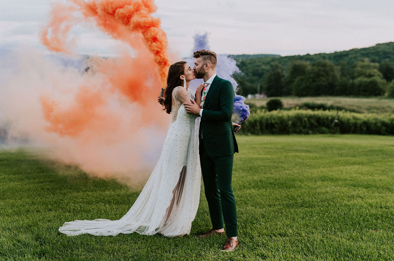 MisterWives? Frontwoman + Drummer Wed in a Colorful + Fun Celebration!