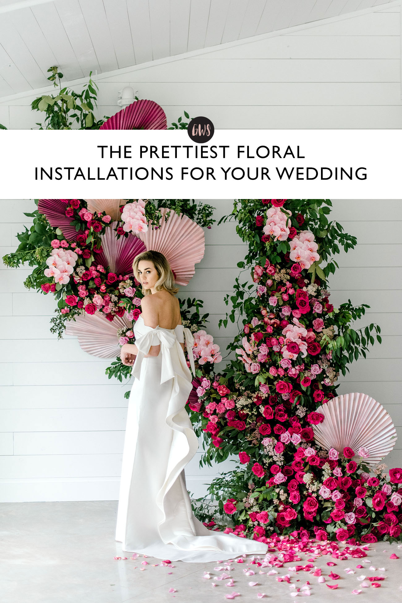 dreamy floral installations for your wedding day