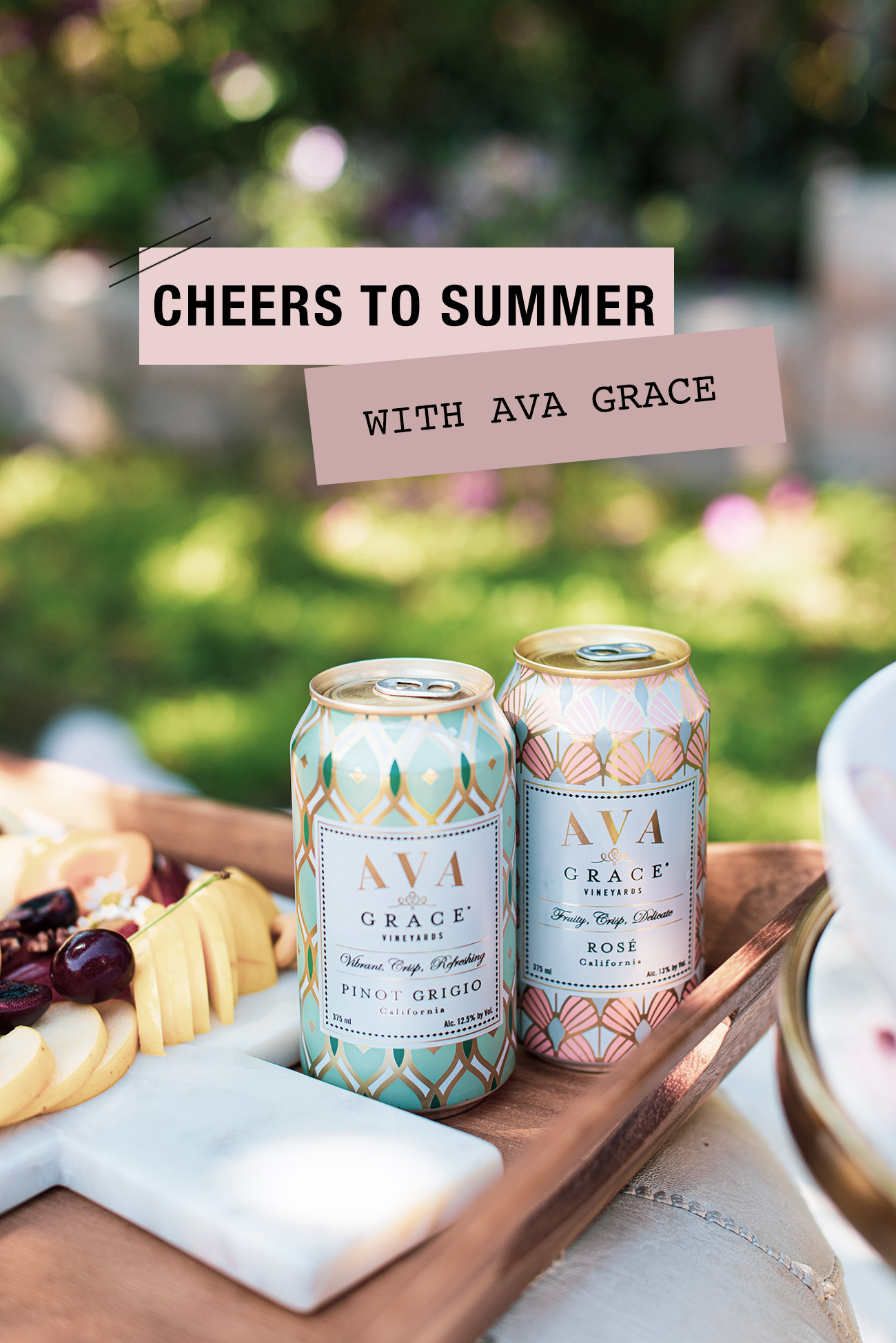AVA Grace Wine Cans for Summer Entertaining