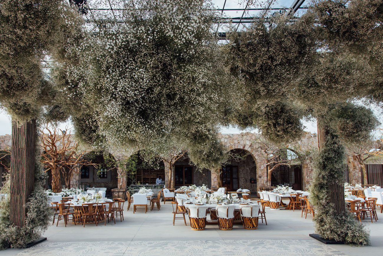 babys breath on the ceiling